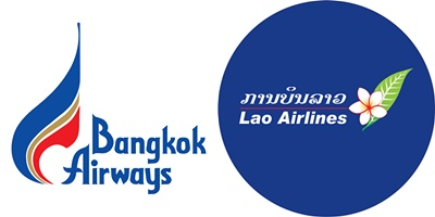 ラオス航空とバンコクエアウェイズ(PG)の共同運行を開始!