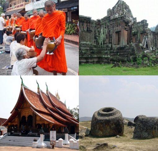 ラオスの世界遺産3箇所を巡る ベトナム航空利用 4都市周遊、納得の9日間(日本語ガイド同行)
